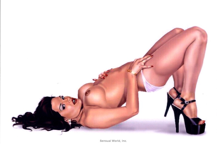 erotic-topless-pin-up-girl-postcard-sexy-panty-butt-bare-breasts-legs-high-heels-3